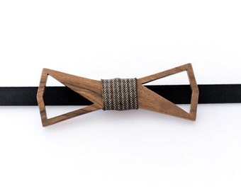 Wooden Bow Tie – CARIS - Gifts for Him - Groomsmen Gifts