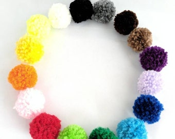 Mini Puffs Cat Toys, Pom Pom Balls, Set of 3, Catnip Balls, Bell Cat Toys, Pom Pom Cat Toys, Ball Cat Toys, Kitten Toys, Kitten Play