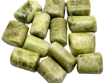 Vesuvianite - Tumbled - 1 Pound - 1 to 1.5 inches - Bulk Lot 1lb