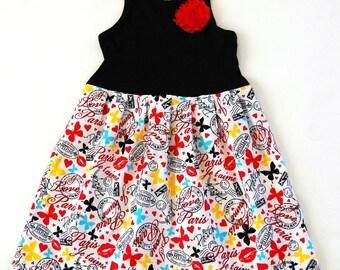 Paris dress**Eiffel tower dress**Butterflies, kisses, lips, hearts**French dress**Holiday dress, Christmas dress**Boutique dress**Je t'aime