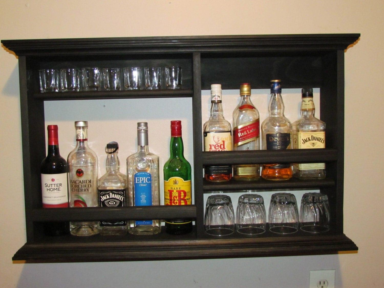 mini bar black stain minimalist style liquor cabinet. Black Bedroom Furniture Sets. Home Design Ideas