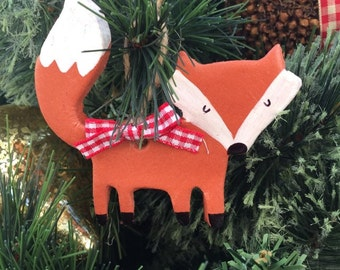 Mr Fox Decoration, christmas decoration, woodland decoration, fox