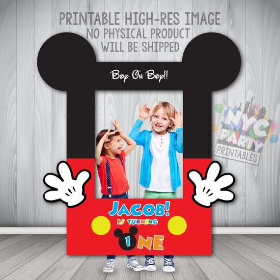 Mickey Mouse Photo Booth Frame, Printable Mickey Mouse Photo Booth ...