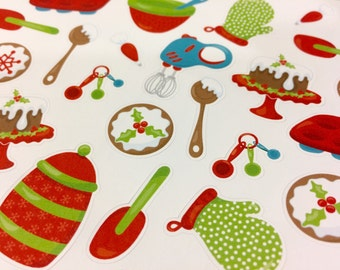 Christmas Planner Stickers | Baking Planner Stickers | Great For Erin Condren Life Planner | Vertical Layout | Use In Happy Planner | CA002