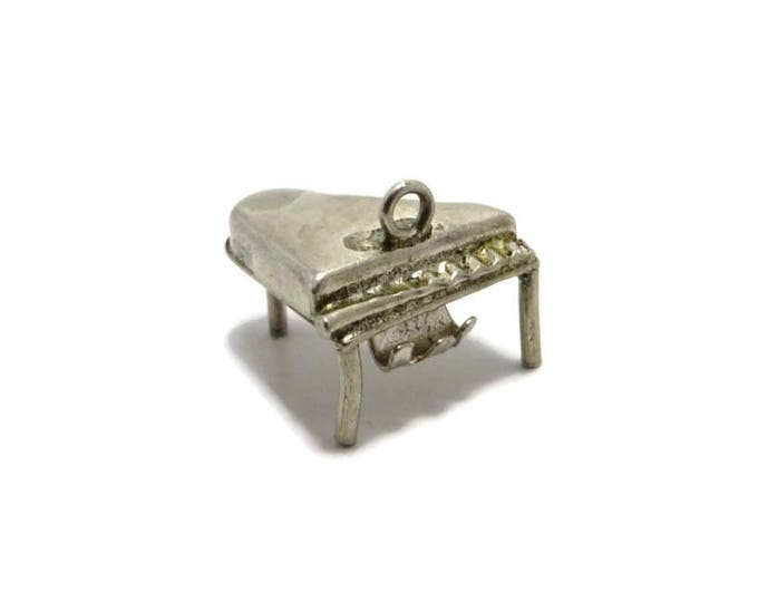 Grand Piano Charm, Vintage Sterling Silver 3D Charm Bracelet Gift