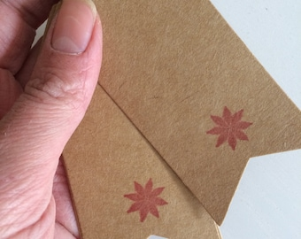 Hand stamped gift tags on kraft card