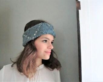 Wool leather headband, Italian recycled leather, Dutch-Italian recycle design, gift. JJePa