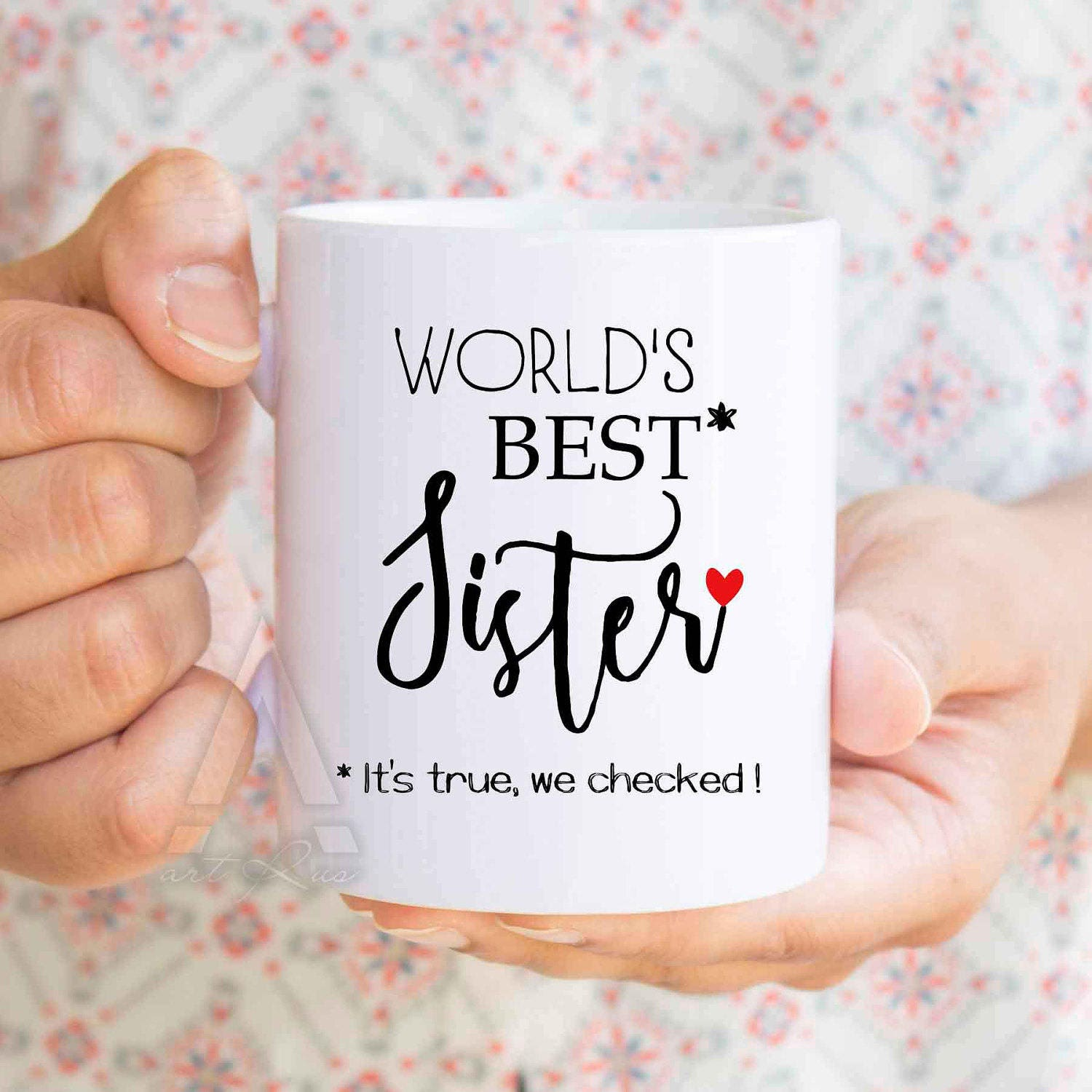 gifts for sisters, christmas gift World\'s best sister funny coffee ...