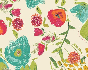 Budquette Abloom by the 1/2 yard (Rayon Fabric) by Bari J from the Fusions Abloom collection for Art Gallery #R-405