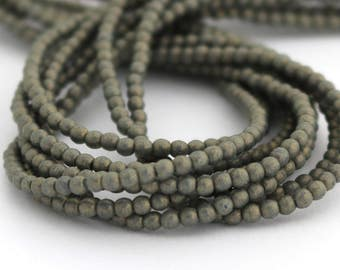 NEW Pacifica Poppy Seed 2mm Smooth Round Czech Glass  Beads 100pc #879