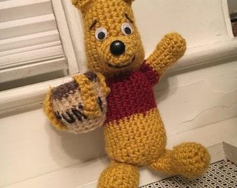 Hand Made Crochet Winnie the Pooh Amygurumi Plush