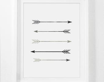 Arrow Wall Decor, Arrow Art, Arrow Decor, Arrow Nursery Decor, Printable Nursery Art, Arrow Print, Arrow Room Decor, Rustic Home Decor, Boho