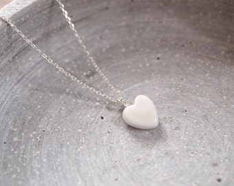 Porcelain necklace heart