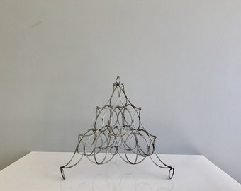 Vintage Wire Fruit Holder / Wire Fruit Rack Pyramid