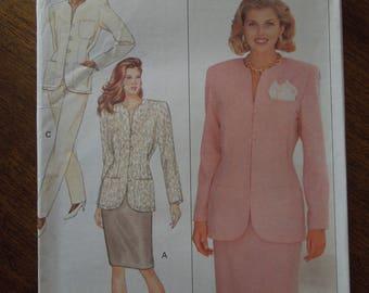 Butterick 4567, sizes 12-16, unlined jacket, skirt, pants, UNCUT sewing pattern, craft supplies
