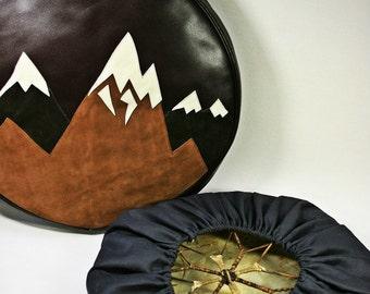 Handmade leather Case for shaman's drum voodoo tambourine
