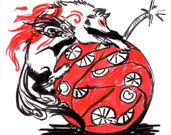 Okami Cherry Bomb print