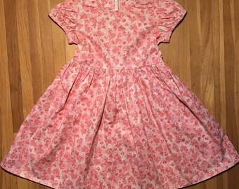 Hearts Glittery Pink Girls Dress Size 4T