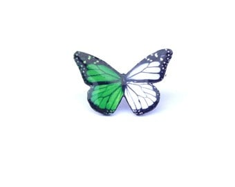 Green white butterfly brooch, Butterfly brooch, Butterfly, Butterfly jewelry, Brooch, Monarch, Monarch butterfly, Wing, Insect, Christmas