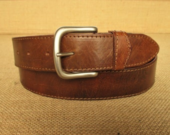 handmade leather belt with hidden pocket, money travel zipper compartment, double layered, custom size