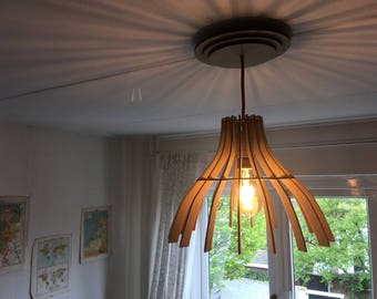 Wooden lampshade laser cut