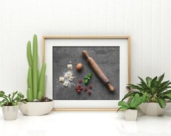 pasta v. two // food photography print // kitchen decor // kitchen wall art  // dining room wall art // rustic wall art // italian food