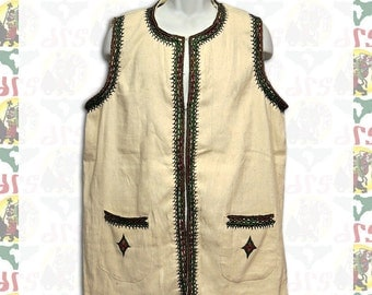 Ethiopian Traditional hand embroidered Vest L