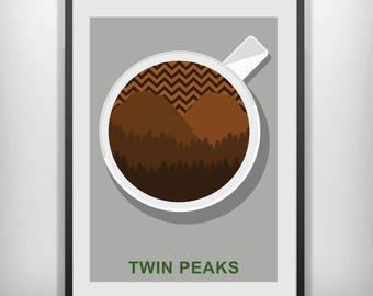Twin peaks minimalist movie poster
