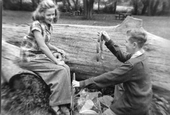 Vintage Photo..Wanna Weenie?  1950's Original Found Photo, Vernacular Photography
