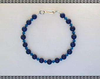 blue bracelet, dark blue bracelet, blue, capris blue, Swarovski