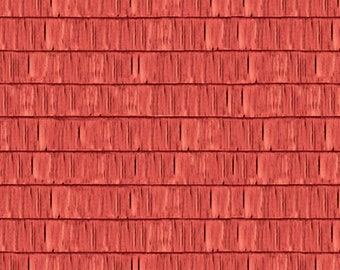 1 Sheet Of Sugartree Scrapbooking 12 X 12 Papers, Natural, Red Roof Tiles
