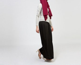 Hijab Obsessions Ponte Maxi Skirt Black