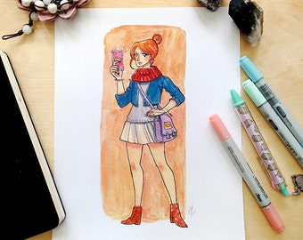 Divination Witch Watercolor Illustration Print