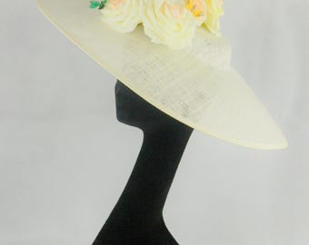 Floral Crown Sinamay Hat