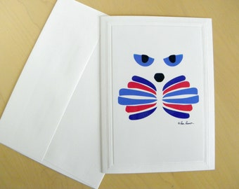"""CAT LOVER Greeting Card created by Pam Ponsart from Pam's Fab Photos, titled """"Catitude"""",  Blank Inside Photo Stationary"""