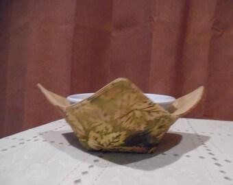 Reversible Batik Microwave Bowl Cozy / Microwave Cozy / Bowl Cozy  / Ice Cream Cozy / Microwave Bowl  Holder