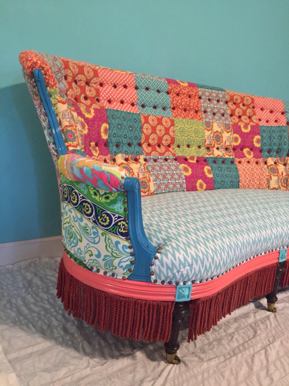 Bohemian Chair, Antique Chair , Vintage Chair, Painted Furniture ,