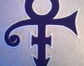 Prince purple chenille patch