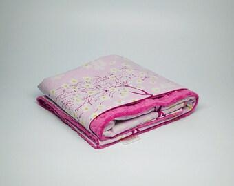 Pink Blossom Baby Blanket - Minky Baby Blanket - Flower Blanket - Minky Blanket - Baby Blanket- Newborn Gift - Baby Gift - Baby Gift Gift