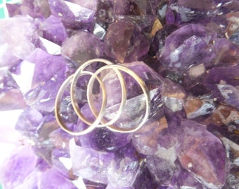 3 banded rolling ring worry band in sterling silver....... size 7 only
