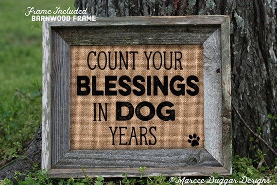 Framed Dog Print | Dogs | Count Your Blessings | Personalized  | Paw Print | Animal | Pet | | Pet Owner Gift | 256