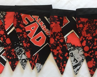 The Walking Dead Bunting | Blood Splatter | Dexter | Zombie Bunting | Banner | Flags | Bunting