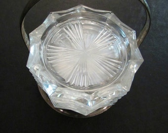 Vintage Coaster Set Silverplate with Caddy Mid Century Set of 6