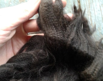 Whole Soft Black Baby Alpaca Fleece