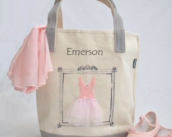 Small Ballerina Tote, Tutu Ballet Bag, Flower Girl Gifts, Personalized Gifts, Tutu Bag, Ballet Bag, Dance Bag, Personalized Girls Dance Bag