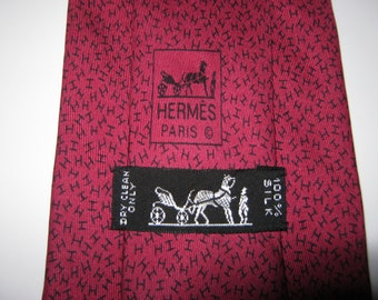 HERMES Tie, Hermes Necktie, Hermes Neck Tie, Men's Tie / Hermes Silk Tie, Made in France, High Fashion, Hermes Neckwear