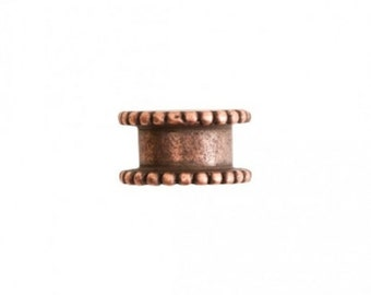 Channel Bead - Small - Antique Copper