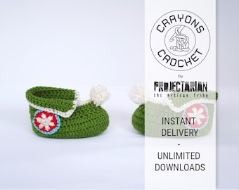 Crochet Pattern: Pixie Boots   Easy baby shoes