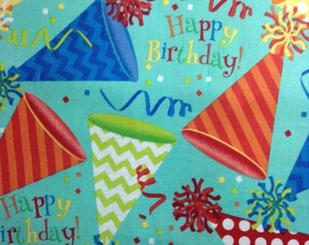 One Half Yard of Fabric - Birthday Hats