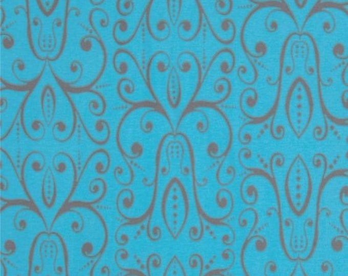 Savannah knit jersey in turquoise. From the Karavan collection by Free Spirit Knit Fabric